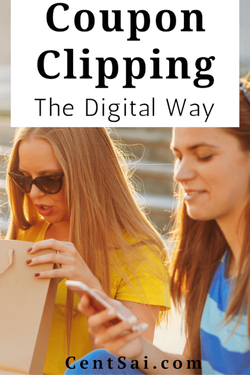 Coupon Clipping the Digital Way. You no longer have to spend hours coupon clipping to find ways to save when you shop – technology is here to help! #savemoney #couponing