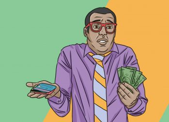 Cash vs. Credit Card: Is Cash Only the Way to Go? | Art by Jonan Everett