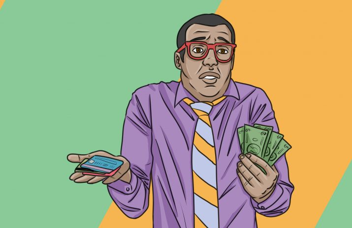 Cash vs. Credit Card: Is Cash Only the Way to Go?   Art by Jonan Everett