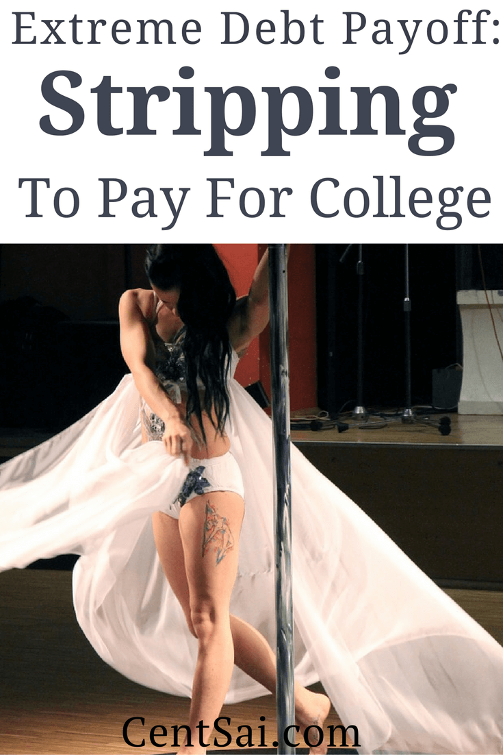 Extreme Debt Payoff: Stripping to Pay For College. Within the two months, she had enough to pay for her entire fall tuition — a bill she paid in cash and in person at the bursar's office. #DebtBlogs #EducationBlogs #TabooMoneyBlogs