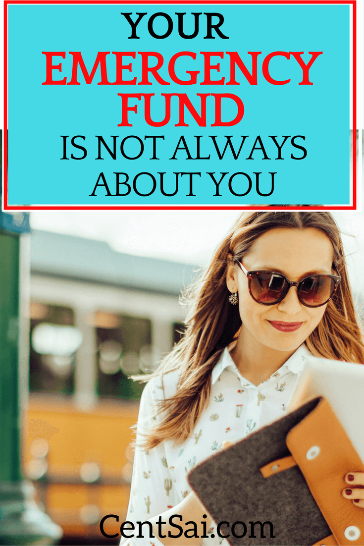 Emergency funds are not just for job loss or the occasional unforeseen expense. It allows you to have freedom when your family or friends need you.