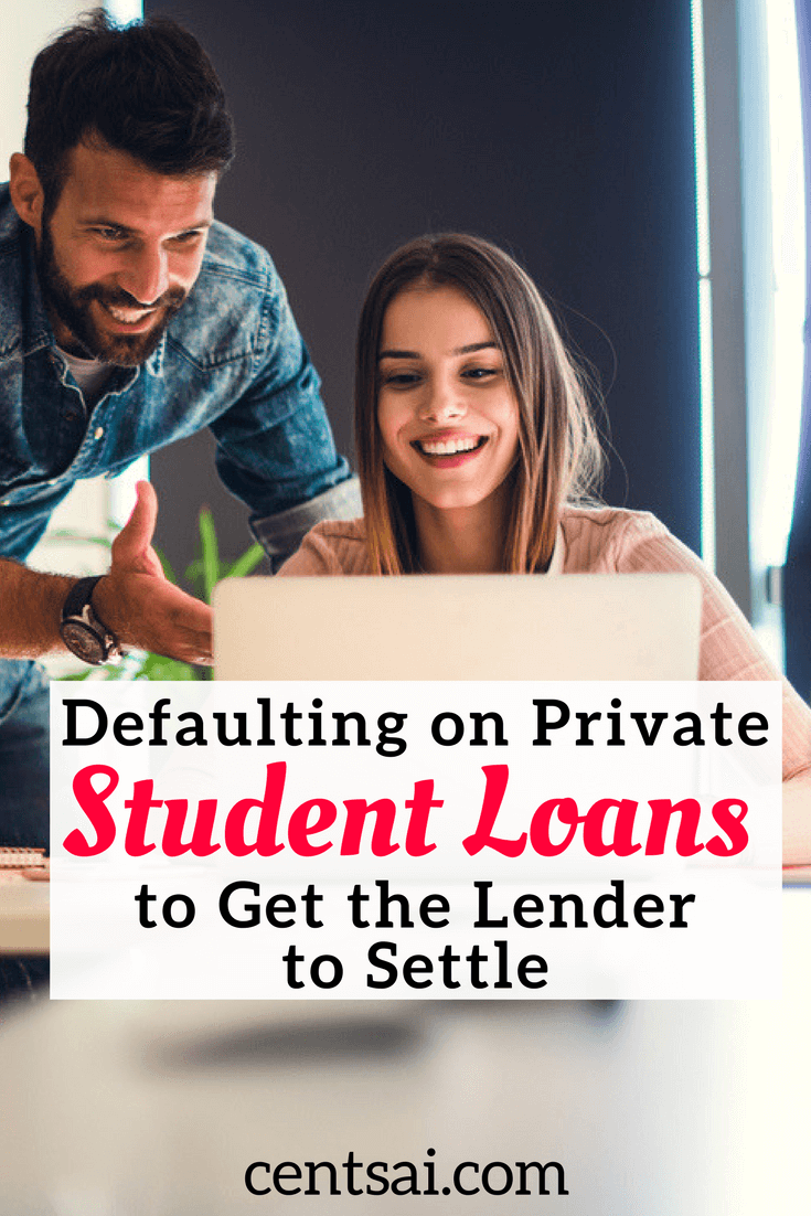 Strategic default is the borrower's decision to stop making payments on a private student loan, despite having the financial ability to make the payments.