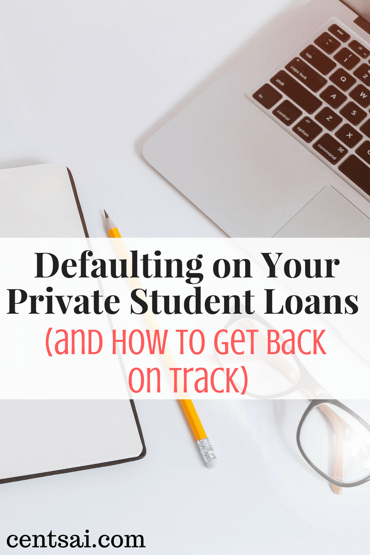 If you can't pay your private student loans, the lender has a variety of options. Learn how to get back on track with your loan payments.