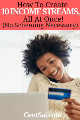 How To Create 10 Income Streams, All At Once! (No Scheming Necessary). In today's sharing economy, there are many ideas that will come to you. Depending on your own set of skills and circumstances, you can find more such gigs to add to your income streams, till it grows to a steady flow.