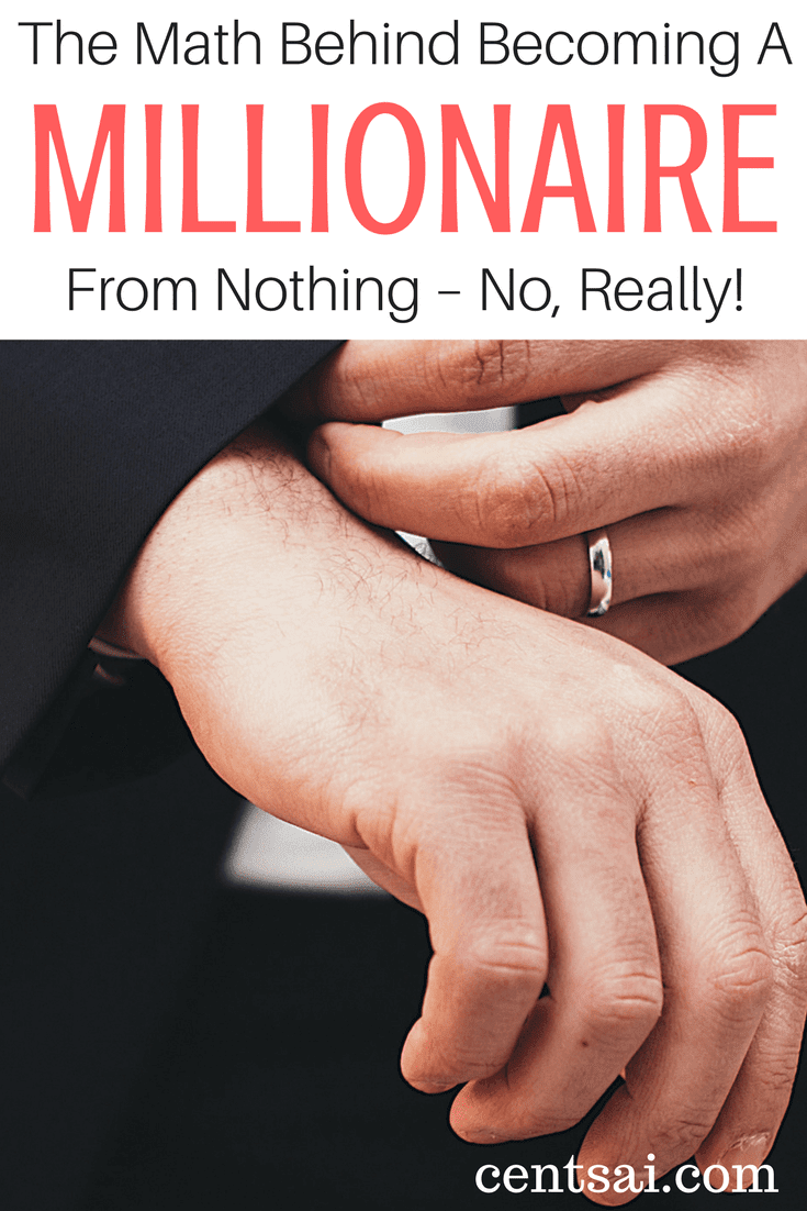 The Math Behind Becoming A Millionaire From Nothing – No, Really! Why you should care: Saving as much as you spend pretty much guarantees you'll become wealthy.