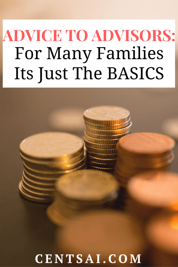 As advisors we can get caught up in all we think we know, complex strategies or designing the best portfolio. But sometimes we need to remember that many families are simply hungry for the basics.