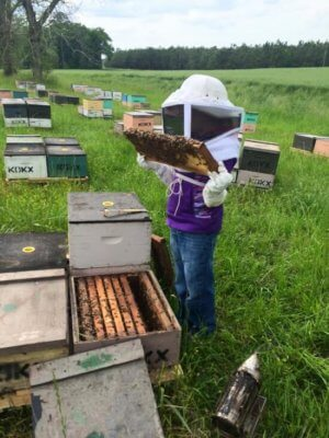 2016-04-06 21.25.31 - tending the bees with suit