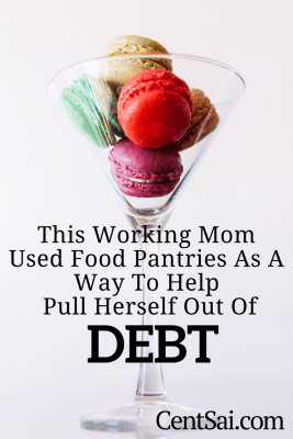 This Working Mom Used Food Pantries As A Way To Help Pull Herself Out of Debt. Smart people, facing extremely hard times, will use free food pantries not only to fill their stomach but to improve their bottom line.