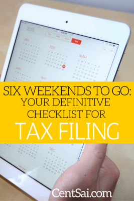 Six Weekends To Go Your Definitive Checklist For Tax Filing