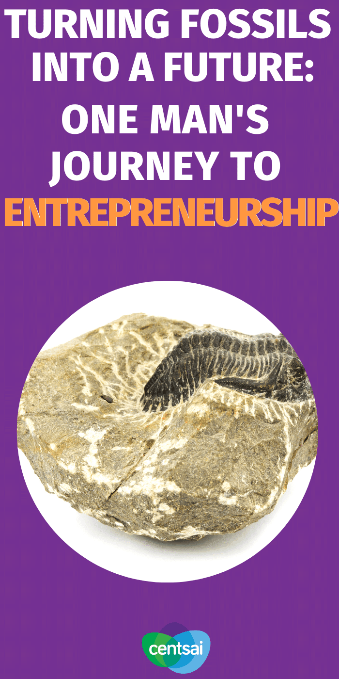 Peter Lovisek went from a neuroscience degree to entrepreneurship thanks to his love of fossils. Here's how he pulled it off. #CentSai #entrepreneurshipideas #entrepreneurship #sidehustle #makemoney