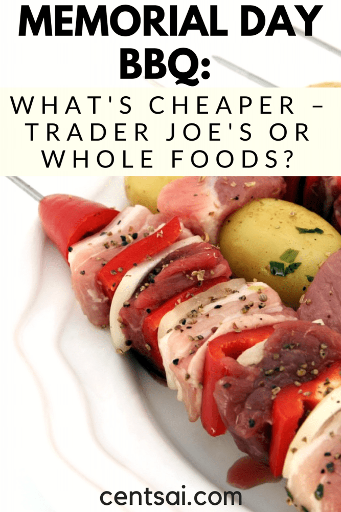 Memorial Day BBQ: What's Cheaper – Trader Joe's or Whole Foods? So you want to have a fun Memorial Day barbecue next week, but your on a budget. What are the best foods to make – and the best places to shop?