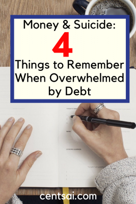 Money & Suicide: 4 Things to Remember When Overwhelmed by Debt. If you or someone you know is considering suicide because of debt, get active, get involved, and most importantly, get help.If you or someone you know is considering suicide because of debt, get active, get involved, and most importantly, get help.
