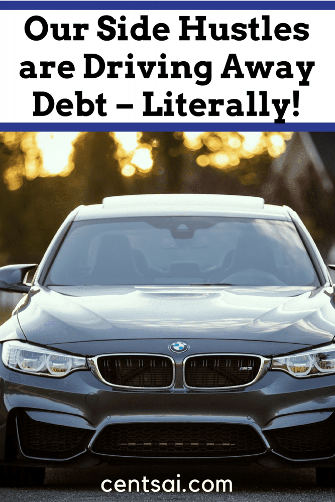 Our Side Hustles are Driving Away Debt – Literally! We're in the fast lane to financial freedom, thanks to Uber. Here's how we're making bank – and driving off debt – with side hustles.