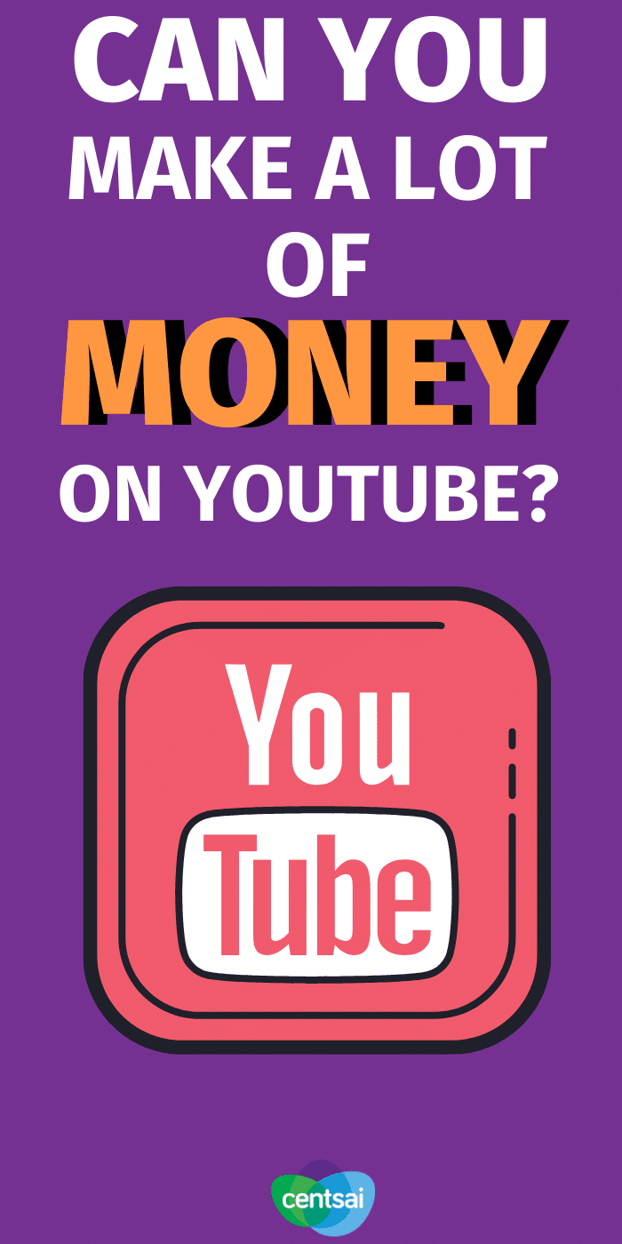 Ever wondered how to earn money from YouTube views? It's not as easy as you think. So... CAN you make a lot of money on YouTube? #CentSai #makemoremoney #sidehustle #makemoney #makemoneyfromhome #makemoneyonline
