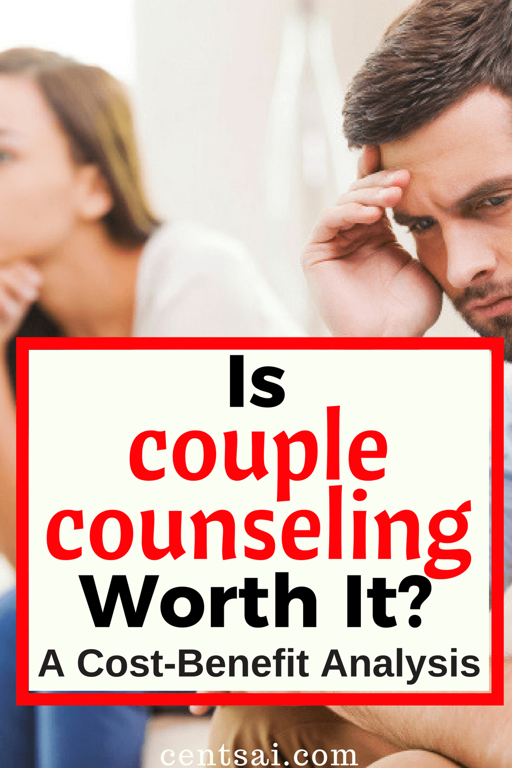 Is Couples Counseling Worth The Money? How much is saving a relationship worth? One writer did a couples counseling cost-benefit analysis, and even checked out some cheaper options. #marriage #relationship #personalfinance
