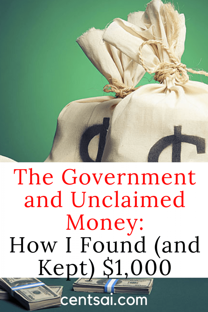 The Government and Unclaimed Money: How I Found (and Kept) $1,000.