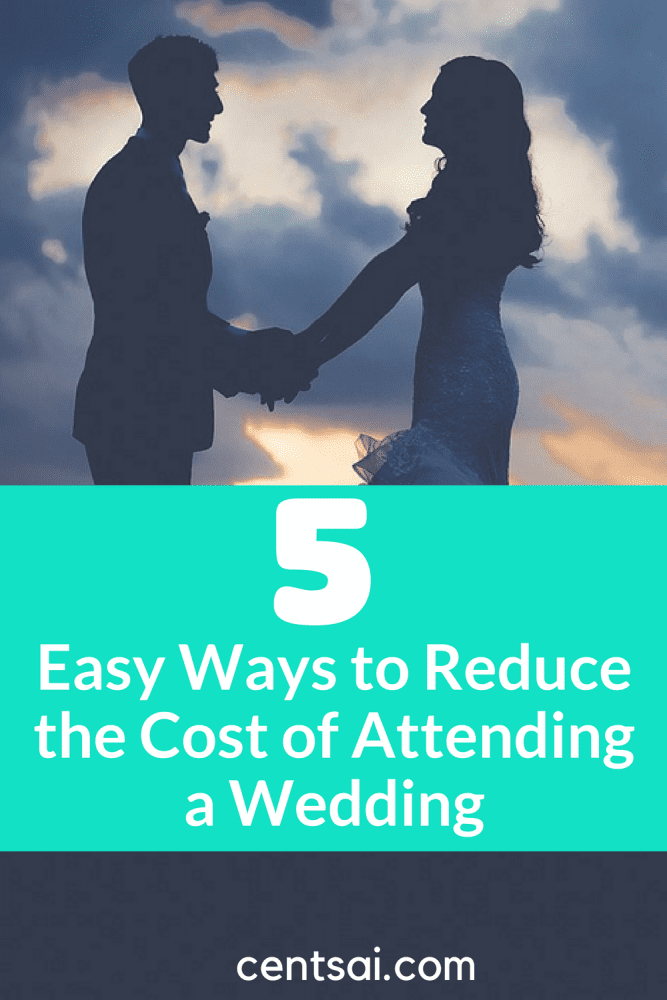 5 Easy Ways to Reduce the Cost of Attending a Wedding. Before you decline your next invitation, though, try these money-saving tricks and see if the cost of attending a wedding will fit in your budget. #wedding #savingtips #moneytips #frugal #tips