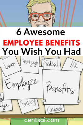 6 Awesome Employee Benefits You Wish You Had! These employee benefits may include free food and drinks (both alcoholic and not), car washes, massages, chiropractic care, gym memberships, personal training, and more, as well as free company products and swag.
