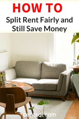 How to Split Rent Fairly and Still Save Money. Splitting expenses can be easy or a major hassle. It all depends on your roommates. #savemoney #savingtips #frugaltips