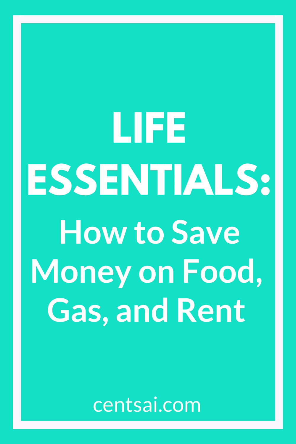 Life Essentials: How to Save Money on Food, Gas, and Rent. Even when it comes to the bare necessities, you may be spending more than you need to. Here's how to save money on food, gas, and rent. #costofliving #frugality #frugal #savemoney #savingtips