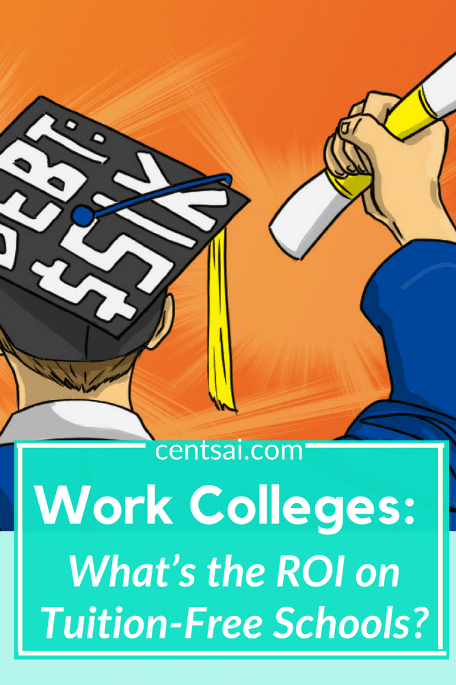 Work Colleges: What's the ROI on Tuition-Free Schools? Tuition-free schools offer a great way to attend college without debt. But do they provide a good return on investment? #EducationBlogs #StudentLoansBlogs #college