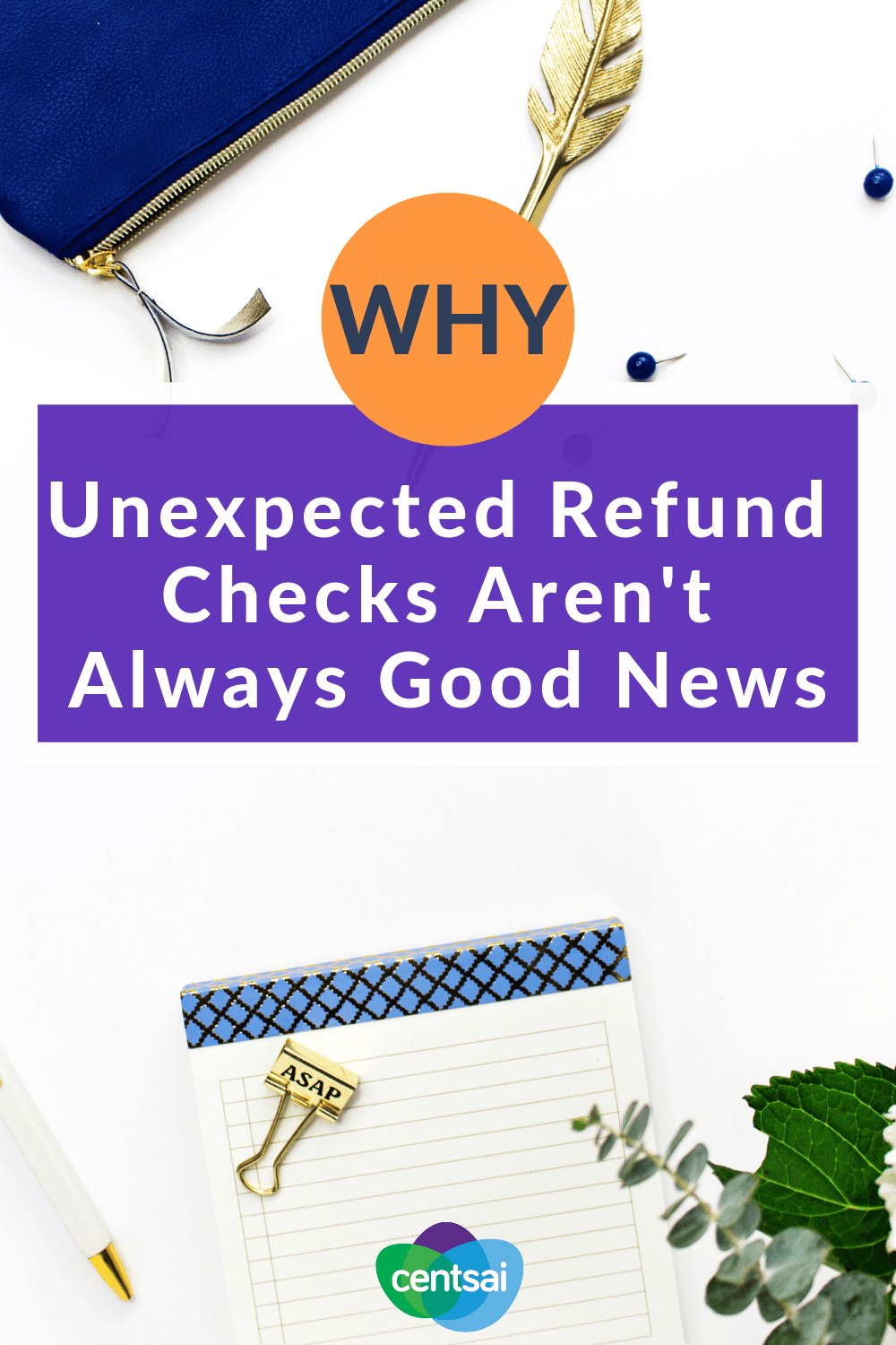 Why Unexpected Refund Checks Aren't Always Good News. You check your mail, and what should you find there but an unexpected homeowners insurance refund. Sound crazy? It's happened. But this is one gift horse you should look in the mouth. That check may be there for the wrong reasons. #insurance #homeowners #checks #financialplanning #insuranceblogs