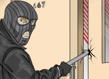 The Pros and Cons of Home Security Systems - art by Jonan Everett