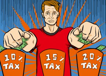 Understanding tax brackets and tax rates - How do tax brackets work? - art by Jonan Everett