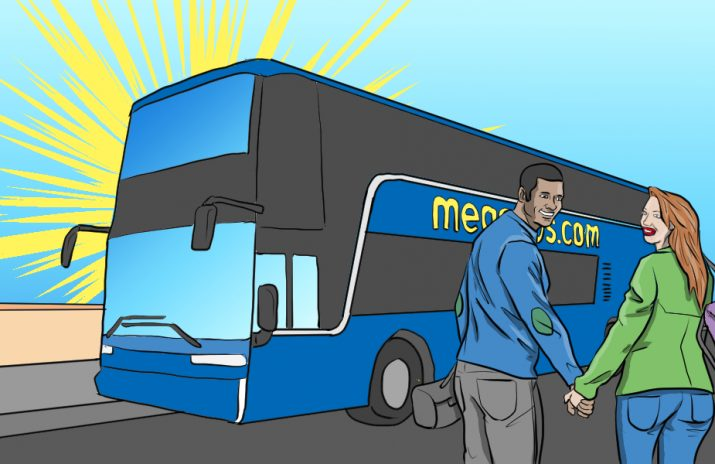 Affordable Travel: Don't Miss the Megabus | Art by Jonan Everett