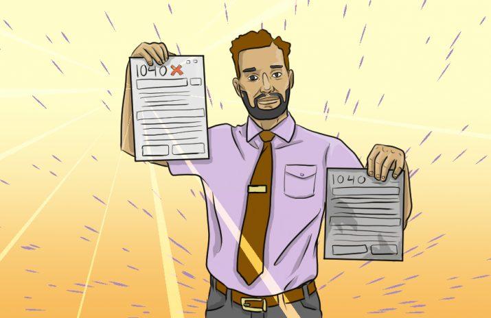 How to File an Amended Tax Return | CentSai | Art by Jonan Everett