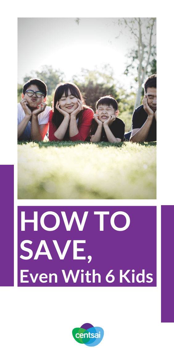 Do you ever worry about being able to provide for your kids? Anybody with a big family and a small income can tell you that budgeting is often stressful. But never fear — we've got you covered. Check out this mom's great tips on money budgeting and to save money on a large-family budget. #savingmoneytips #moneybudgeting #smartmoneytips