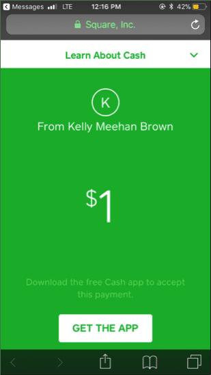 ¿Cuál es la mejor aplicación de transferencia de dinero para ti? | Captura de pantalla de Kelly's Square Cash