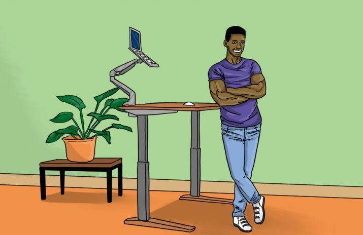 Are Standing Desks Good for You? | art by Jonan Everett
