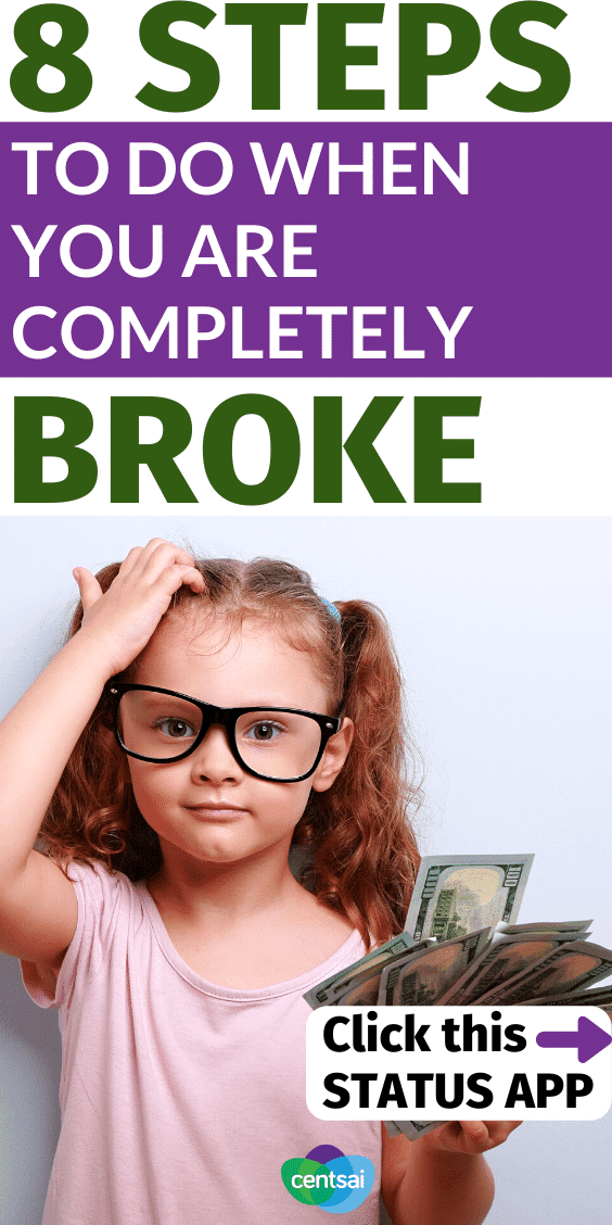 Here's the straightforward guide to when you're completely broke and need money asap. Check out this Status App, the social app for your money. Status privately connects you with peers so you can share financial tips and insights, compare finances, and intelligently manage your money. You can even earn cash rewards while improving your finances! #FinancialLiteracy #financialfreedom #personalfinance #finance #financeplanning #CentSai