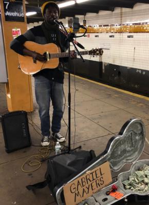 NYC Subway Performers: Gabriel Mayers, photo by Doria Lavagnino