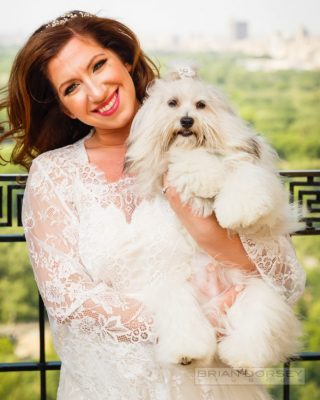 Lydia Liebmann with her dog Coco Puempe