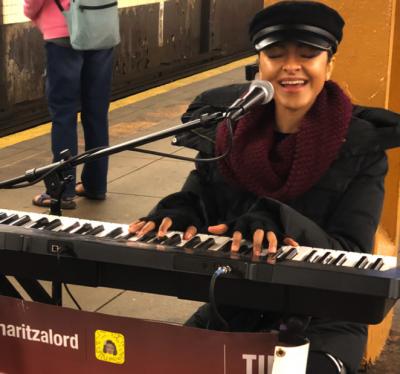 NYC subway performers: Maritza Lord, Photo by Arindam Nag