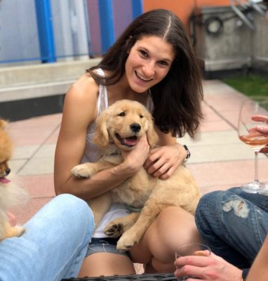 Lindsay Albala with her dog Madison (How much do pets cost?/How much do millennials spend on pets?)