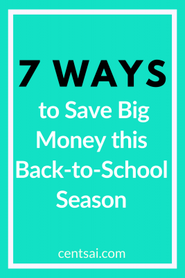 7 Ways to Save Big Money this Back-to-School Season. Back-to-school time can be stressful, and money is always tight. We've got some great ways for you to save big this year. #backtoschool #savemoneytips #savemoneyideas #savingmoneyideas