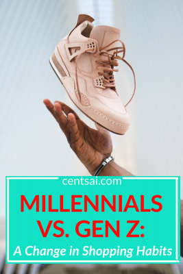 """Millennials vs. Gen Z: A Change in Shopping Habits. Gen Zers have been called """"millennials on steroids,"""" but what does that even mean? Learn how the two generations compare. The answers may surprise you. #millmennials #shoppinghabits #lifestyle"""