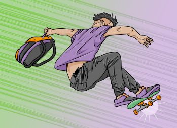 Commuting to College Can Take You for a Ride | Art by Jonan Everett