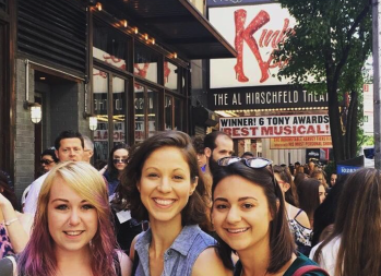 """How to get cheap Broadway tickets: Kelly Meehan Brown going to see """"Kinky Boots"""" with friends Tricia and Sarah"""