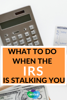 What to Do When the IRS Is Stalking You. Who doesn't dread dealing with the IRS after a tax error? It doesn't have to be scary, though. Learn how to fix tax problems without a headache. #taxes #tax #IRS