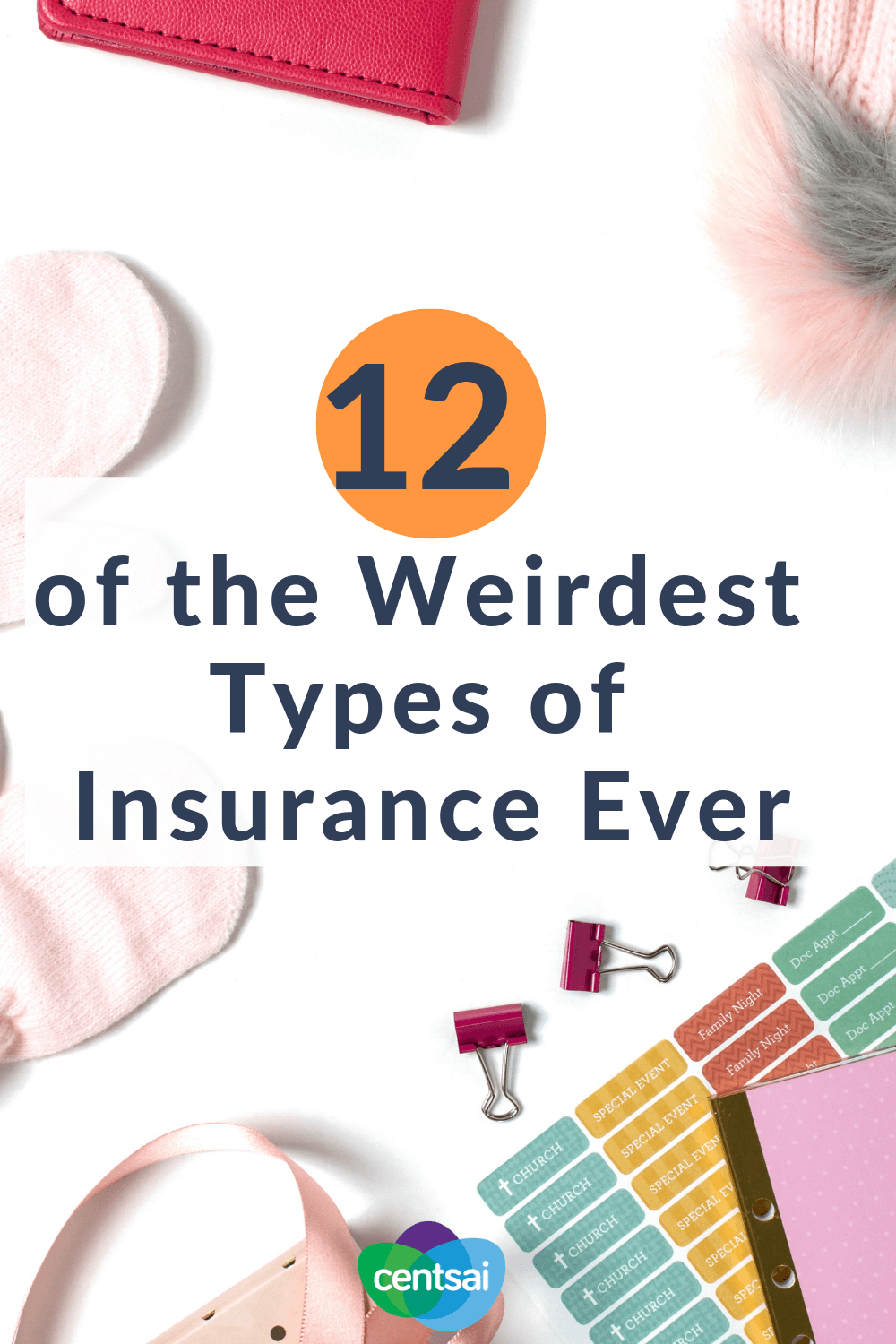 12 of the Weirdest Types of Insurance Ever. Did you know that fantasy-football insurance is a thing? No joke — it exists. Learn all about this and other weird types of insurance. #insurance