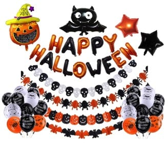 27 Cheap Halloween Party Ideas for Under $27: Halloween balloon set