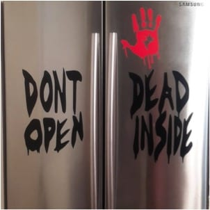 27 Cheap Halloween Party Ideas for Under $27: Halloween fridge decal