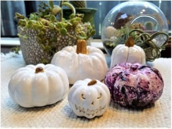 27 Cheap Halloween Party Ideas for Under $27: Hand-painted pumpkins