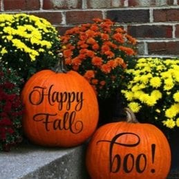 27 Cheap Halloween Party Ideas for Under $27: Pumpkin decals