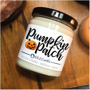 27 Cheap Halloween Party Ideas for Under $27: Pumpkin-patch scented candle
