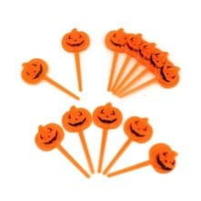 27 Cheap Halloween Party Ideas for Under $27: Pumpkin toppers